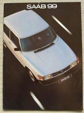 SAAB 99 UK Car Sales Brochure 1981 #210609
