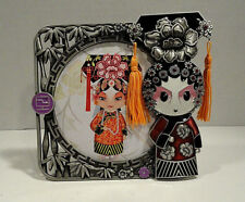 Geisha Girl Pewter Picture Frame