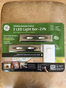 "GE Wireless Remote Control 12"" LED Bar/Strip Light 2 Pack NEW SEALED!"