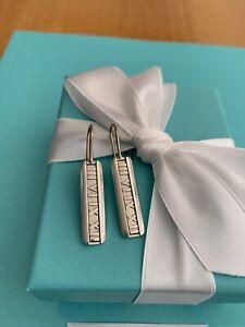 Tiffany & Co Atlas Bar Earrings In Sterling Silver