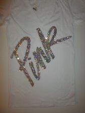 Victorias Secret Pink Bling Tank Tee Sweats Top Lot XS S M L Neon Palm Hawaiian