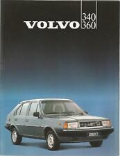 Catalogue brochure Katalog Prospekt VOLVO 340 360 8 PAGES Année 1983