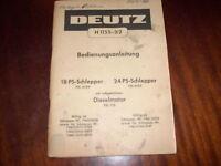 Betriebsanleitung Deutz Schlepper Diesel