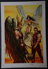 Justice League of America Michael Turner Aspen Art Print