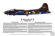 "Ernie Boyette Poster Print ""B-17F - Memphis Belle"""