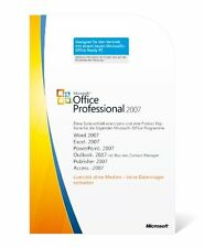 MS Microsoft Office 2007 Pro Professional originale Vollversion Deutsch MLK/PKC