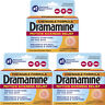 3 Pack Dramamine Motion Sickness Relief, Chewable Tablets Orange Flavor, 8 each