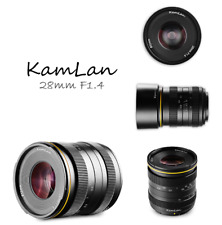 Kamlan 28mm f/1.4 Aperture Manual Lens for Micro Four Thirds Mirrorless Cameras