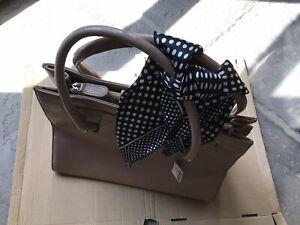 Next Ladies Patent Plastic Nude Medium Size Handbag.New.Unused.Good Condition.