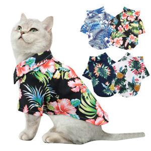 Small Medium Dog Clothes Pet Cat Summer Vest Girl Boy Hawaii Shirt Chihuahua XS