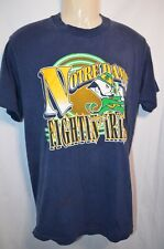Notre Dame Fighting Irish Large T-Shirt Vintage Trench Ultra USA Leprechaun