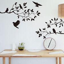 Wandtattoo Vogel Blumen Zweigen Ast Baum Deko Wandsticker Aufkleber Kinderzimmer