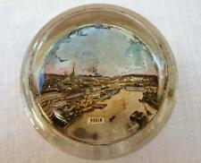 Vintage Souvenir Paperweight  Desk 1920s Glass Rouen France