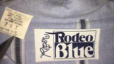 Roper Rodeo Blue Mens Western Dress Shirt Size 2XLT 18-181/2 Blue Stripe