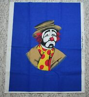 1980 Sad Clown Original Screen Print Contempo Graphics Red Blue 17.5x23 Unframed