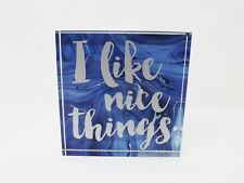 """Sixtrees Square 4.5"""" Heavy Glass Paperweight - New - I Like Nice Things"""
