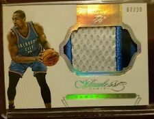 SERGE IBAKA 2014-15 PANINI FLAWLESS JUMBO 3 COLOR GAME USED PATCH CARD SP /20