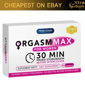 ORGASM MAX 60x Sex Drive Pills for Women Female Libido Booster Hard Love Wet