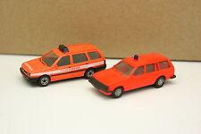 Herpa 1/87 HO - Lot de 2 Opel Kadett et  VW Golf Break Pompiers Feuerwehr