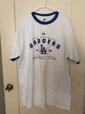 VINTAGE STYLE MAJESTIC LOS ANGELES DODGERS MLB Baseball  T-Shirt XL NEW