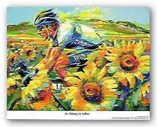 LANCE ARMSTRONG ART Odyssey In Yellow by Malcolm Farley