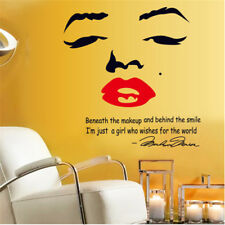 Marilyn Monroe PVC Decor Wall Sticker Mural Decor Art Decal Home Room Decoration