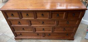 Teak Reclaimed wood sideboard, 13 draws