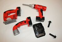 Hyper Tough Kids Power Tools Red Toy Playset - 3 tools + Bits and Bolts