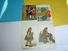 Frankierte Feldpostkarte Lithographien