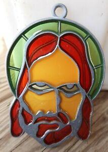 Vintage Suncatcher Jesus God Window Decoration Ornament Religious