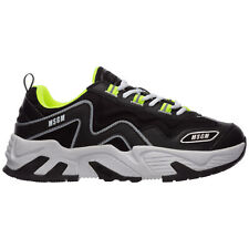 MSGM sneakers men vortex 2840MS7001 140 Black gold glitter - Orange star shoes
