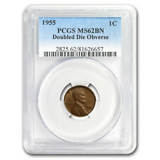 1955 Lincoln Cent Doubled Die Obverse MS-62 PCGS (Brown)