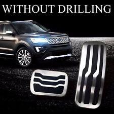 2Pcs No Drilling Gas Brake Foot Pedals Set For Ford Explorer 2011 2015 2016 2017