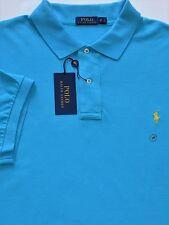 New $98 Polo Ralph Lauren Cove Blue 100% Cotton Mesh Polo Shirt / 2XLT