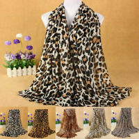 Winter Lady Leopard Animal Print Scarf Cotton Rectangle Long Shawl Classic Lot