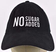 Black NO Sugar Added Logo Embroidered Baseball hat cap Adjustable Strap
