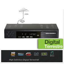 Sintonizador TDT Compacto DVB-T2 MPEG4 SCART Puerto USB Host EPG Mando