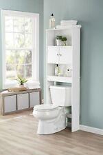 NEW Bathroom Over The Toilet Space Saver Storage Cabinet Shelf Organizer White