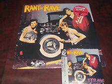 THE STRAY CATS RANT N RAVE JAPAN REPLICA OBI CD + ORIGINAL 1983 VINYL LP COMBO