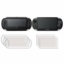 3 front +3 back screen protector film pour sony playstation ps vita pch-2000 slim