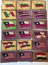 Set of 48 Vintage Collector's Tobacco Felt World Flags