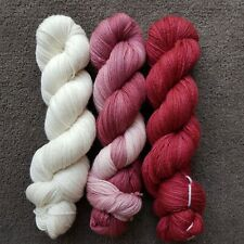 Hand Dyed Sock Yarn Set Of 3 Cashmere Merino 4Ply 100Grams 400M Ombre Gradient