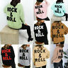 Women's Ladies Tweed Rock & Roll Fine Knitted Oversized Pullover Jumper Top New