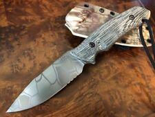 Attleboro Knives THE ATTLEBORO Serrated Edge - Kryptek Green Mandrake
