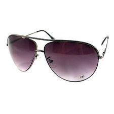 Womens Aviator Sunglasses Classic Stylish DQ Eyewear Gunmetal UV 400