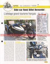 René Gillet 750 K Side-Car Bernardet Modèle 1939 Joe Bar Team Fiche Moto #006654