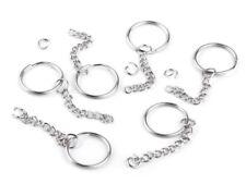 10 Schlüsselanhänger und Aufhänger Schlüsselring Ø25 mm mit Kette