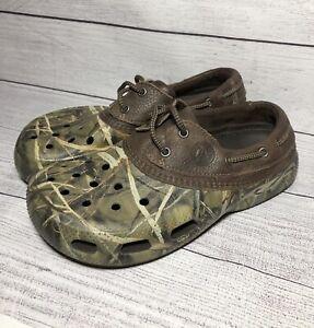 Crocs Camo Leather Islander Pitcrew Advantage Max-4 HD Men's Size 9