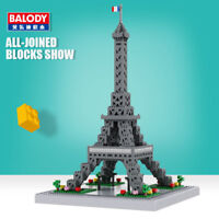 1600pcs Architecture Eiffel Tower DIY Diamond Mini Building Nano Blocks Kids Toy