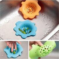 Kitchen Silicone Strainer Flower Sink Drain Filter Shaped Shape Stopper Tool QK